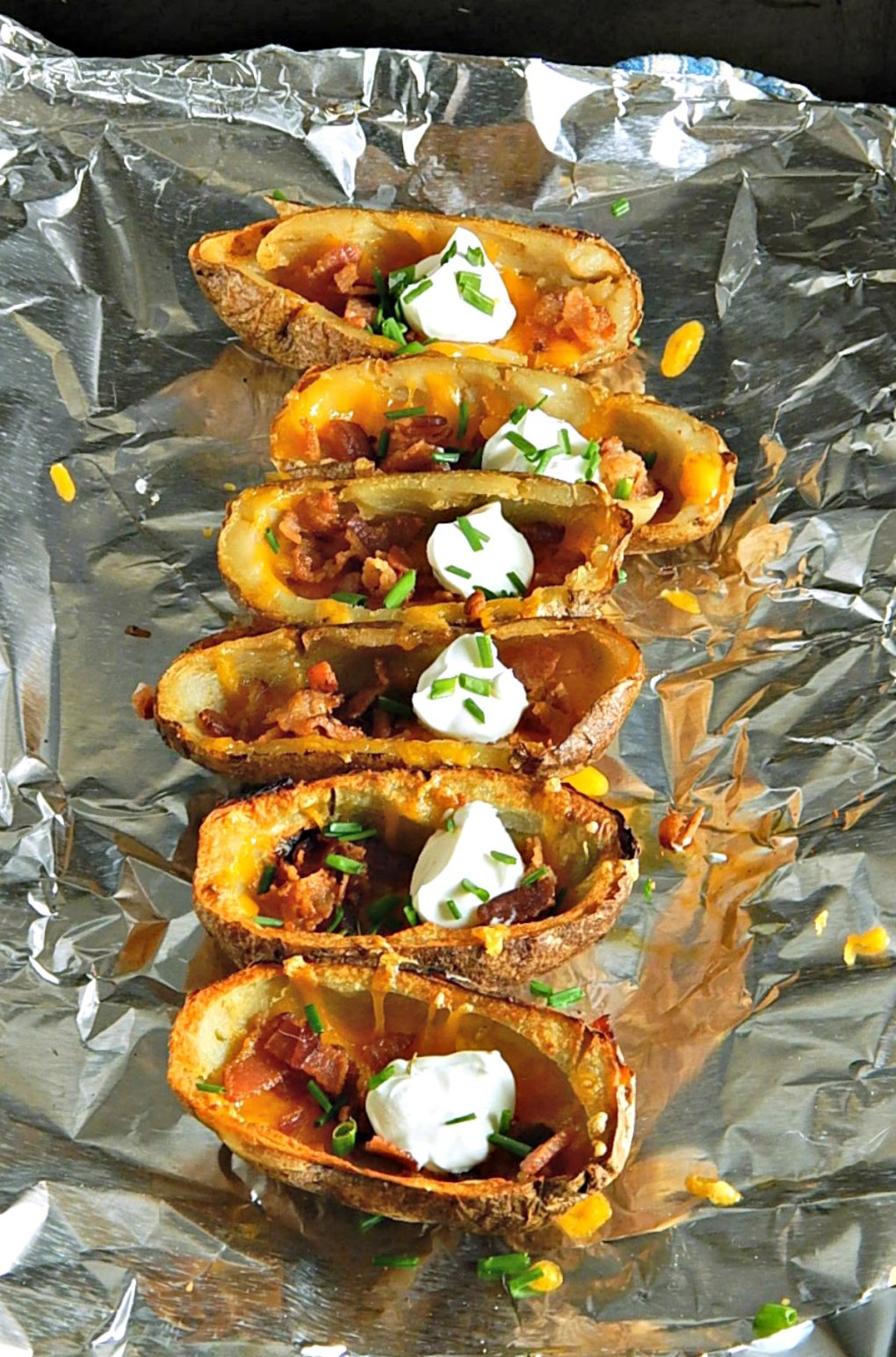 Potato Skins made with Leftover Baked Potatoes