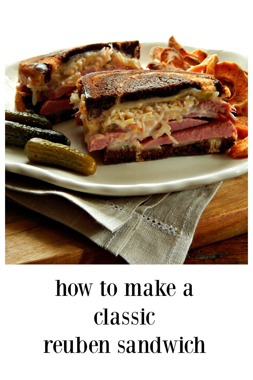 The Classic Reuben Sandwich - and the BEST way to make them! Corned Beef, Sauerkraut, Melty Cheese and home-made Thousand Island. #ClassicReuben #ReubenSandwich #LeftoverCornedBeef #IrishAmericanRecipes #StPaddysDayRecipes #StPatricksDayRecipes