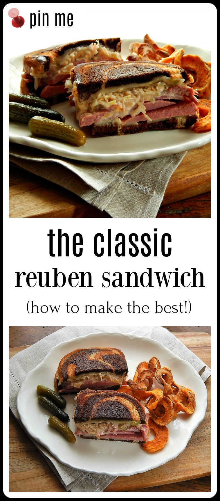 The Classic Reuben Sandwich - and the BEST way to make them! Corned Beef, Sauerkraut, Melty Cheese and home-made Thousand Island.