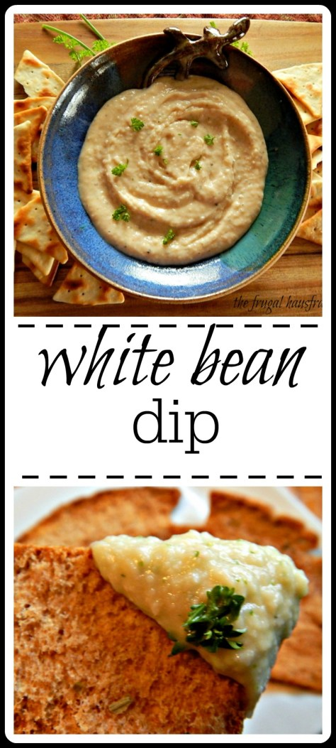 White Bean Dip: From Dried Beans or Canned, this is one delicious, healthy and down right frugal dip!