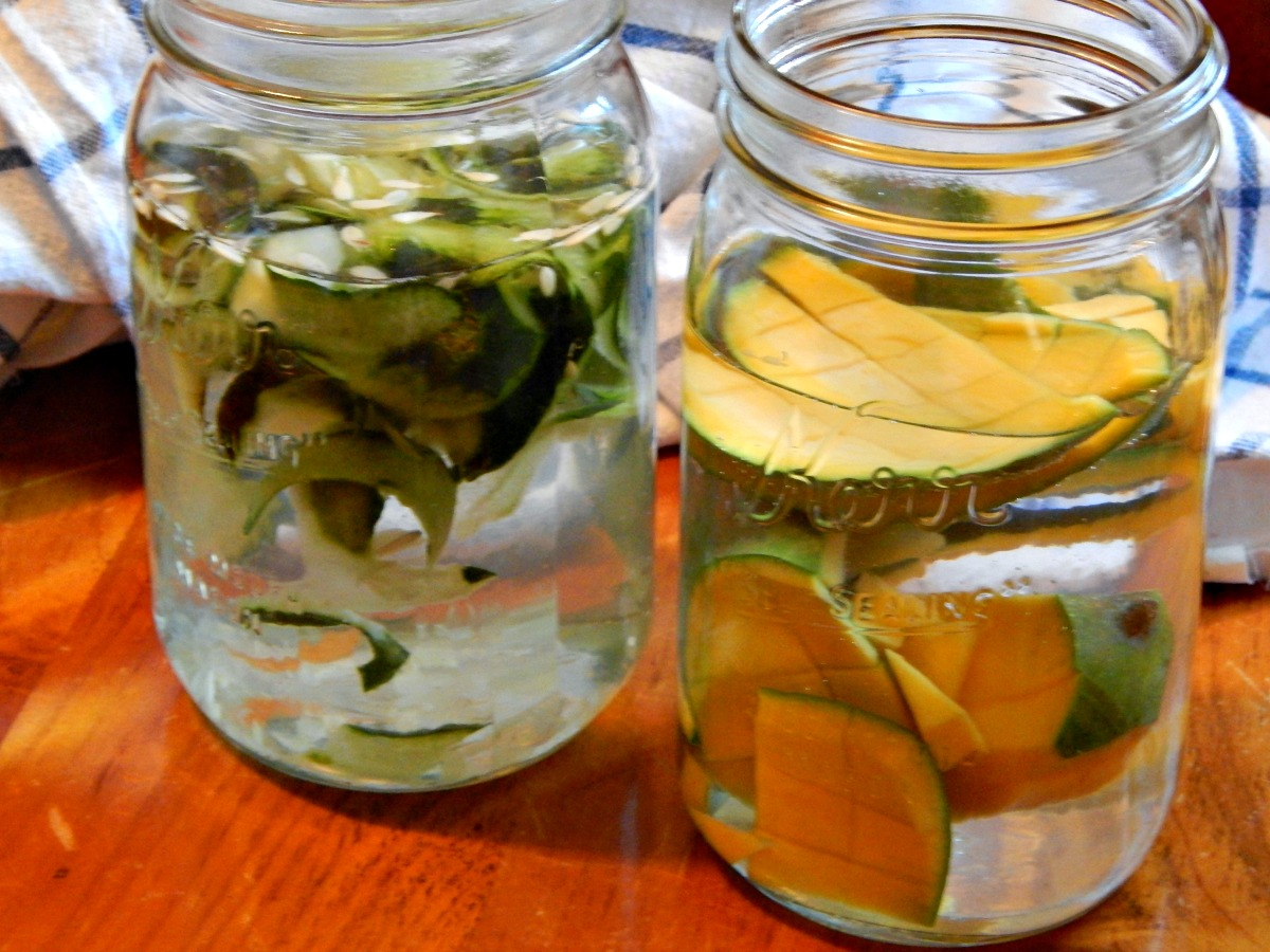 Fruit & Veg waste goes in Spa Water