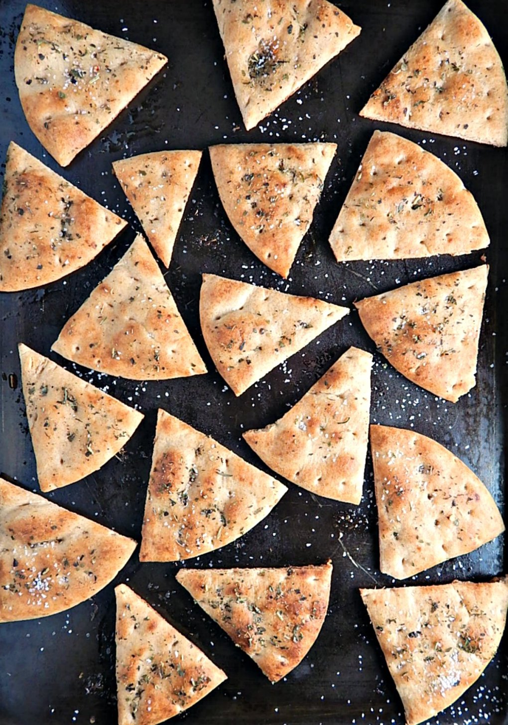 Baked Pita Chips, Herbed or Not