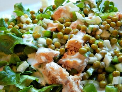 Spring Pea Salad with Lemon Yogurt Dressing