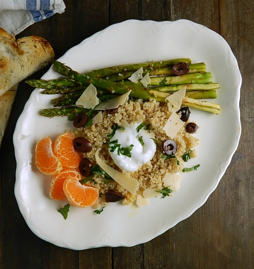 Grilled Asparagus and Quinoa Salad