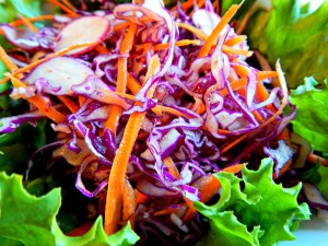 Red Cabbage Slaw with Mexican Flavors