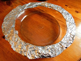 Make home-made pie shield!