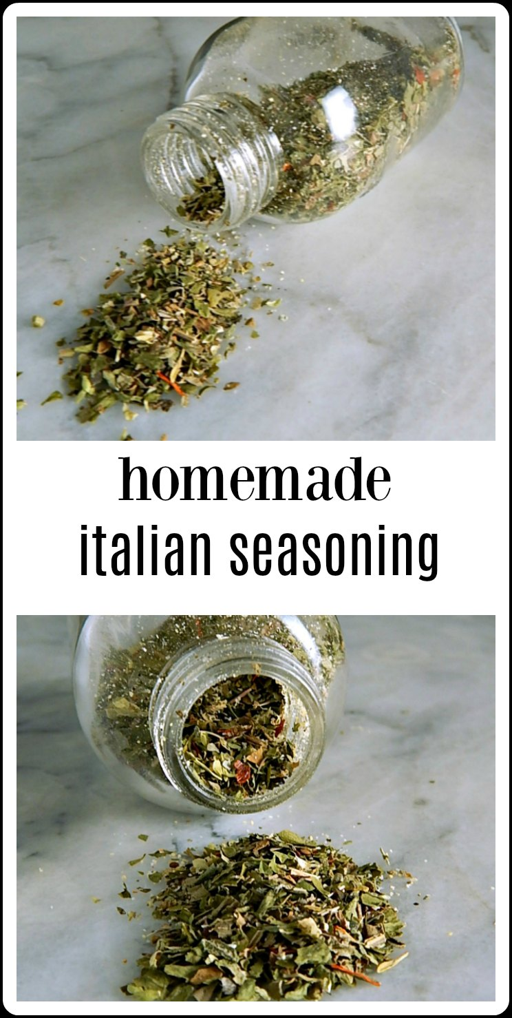 Mix up your own signature custom Homemade Italian Seasoning Blend in minutes - and it will be so much fresher than you can buy! #HomemadeItalianSeasoningBlend