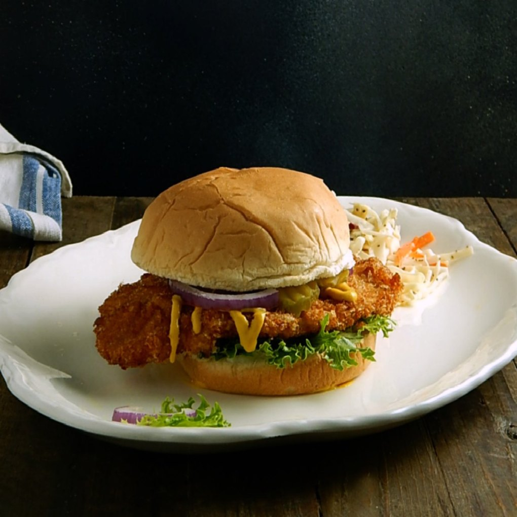 Iowa Pork Tenderloin Sandwich