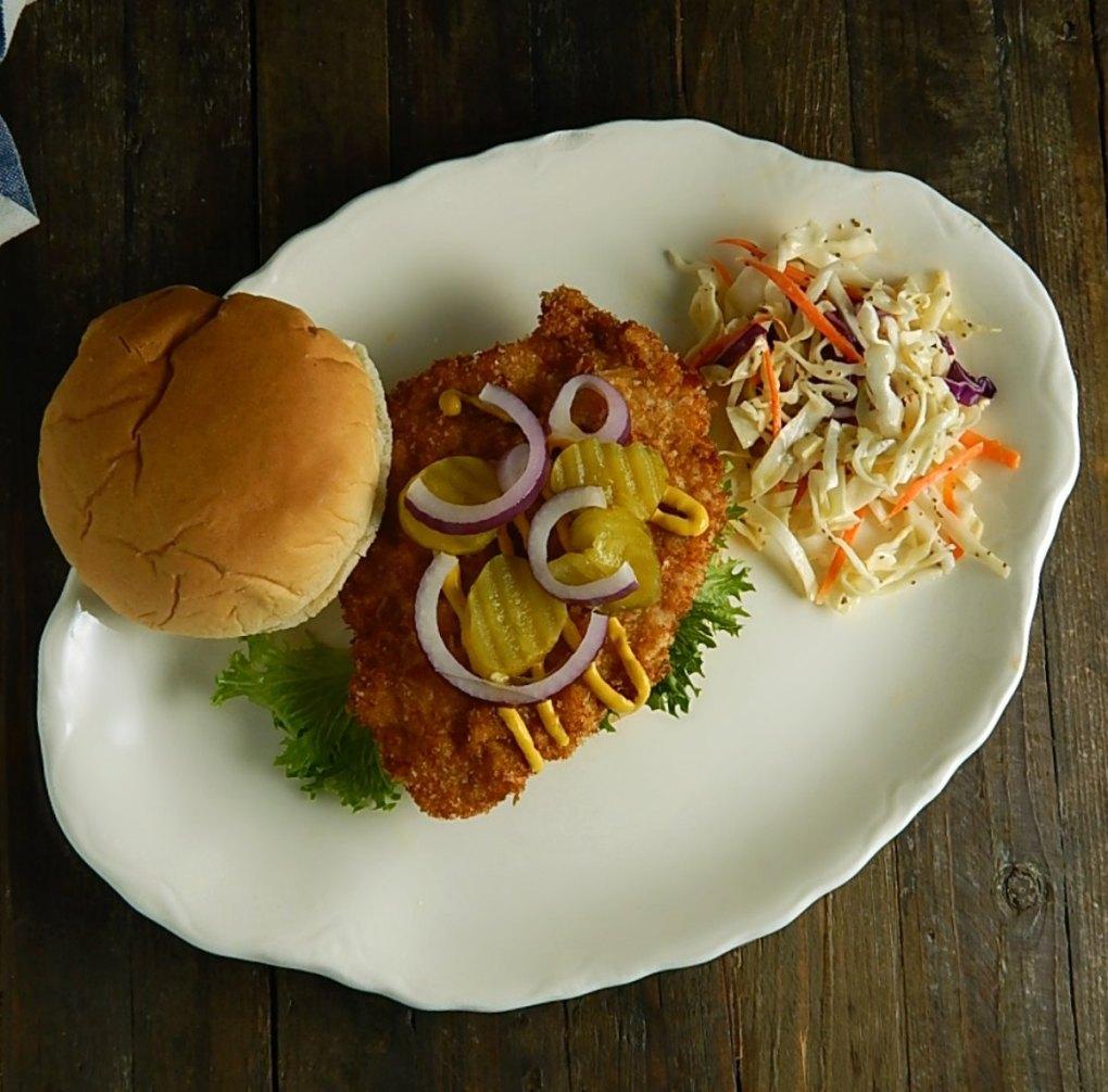 Iowa Pork Tenderloin Sandwich