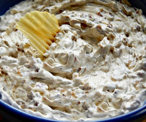 Caramelized French Onion Dip with Bacon cooks illustrated