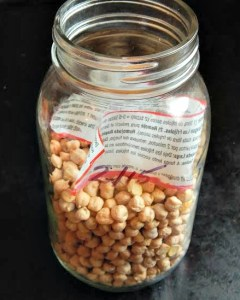 I keep all legumes & pulses in jars
