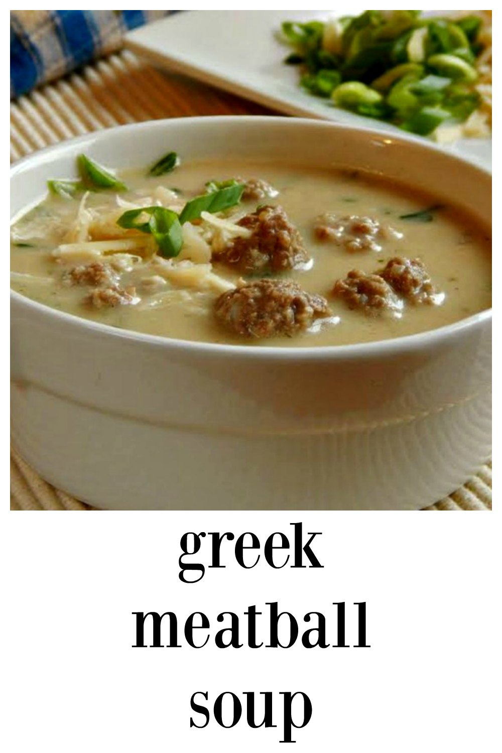 Greek Meatball Soup - so different, tiny little meatballs made of beef, lamb or a combination in a creamy parmesan broth. Lots of herbs make it fresh and a scoop makes short work of the meatballs. Incredibly good & such a nice change of pace! Comfort Food at it's best! #GreekSoup #GreekMeatballSoup #GreekMeatballs