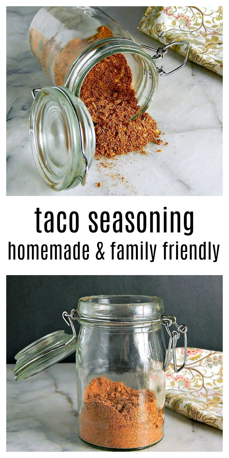 Don't spend hard-earned money on bland taco seasoning - make your Taco Seasoning Homemade and customize to your taste & heat level. This is a godsend if someone suffers from allergies. #HomemadeTacoSeasoning