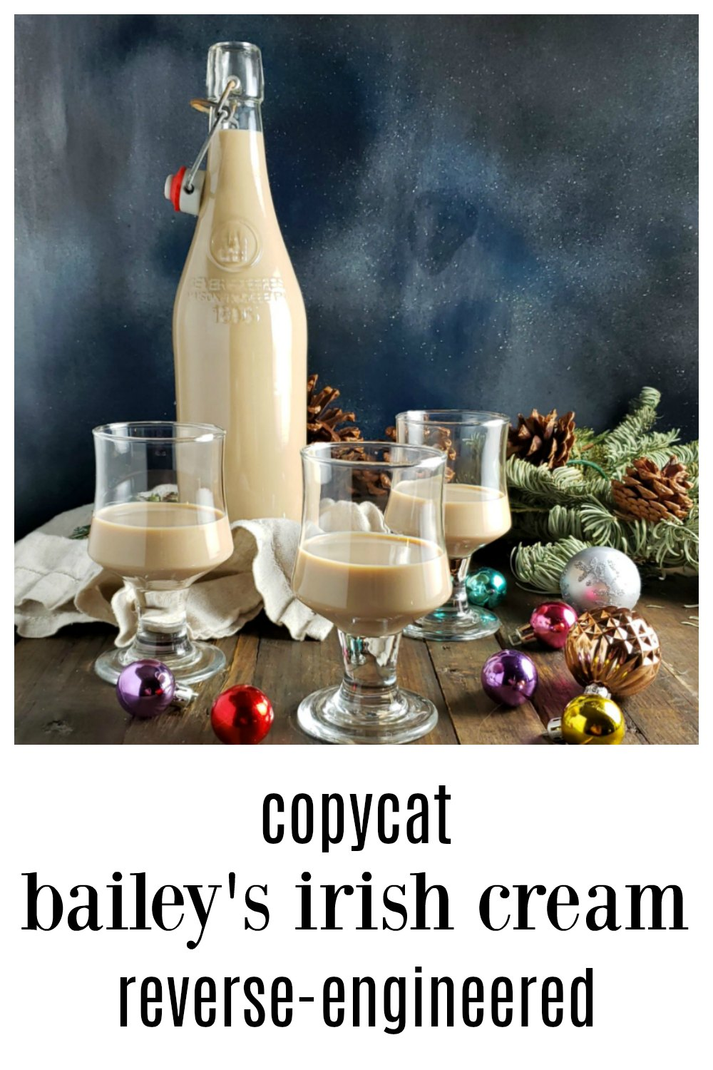This Baileys Irish Cream Recipe Copycat Version is reverse engineered from actual Baileys. It's like no homemade Baileys you've ever had. The taste is stellar, there is no condensed milk, coffee or almond and uses real cream just like the real Baileys Under $10/bottle even using imported Irish Whiskey. #HomemadeBaileys #CopycatBaileys #HomemadeIrishCream #CopycatIrishCream #IrishCreamRecipe #BaileysRecipe #StPatricksDayRecipe #StPaddysDayRecipe #Irish #Cocktails