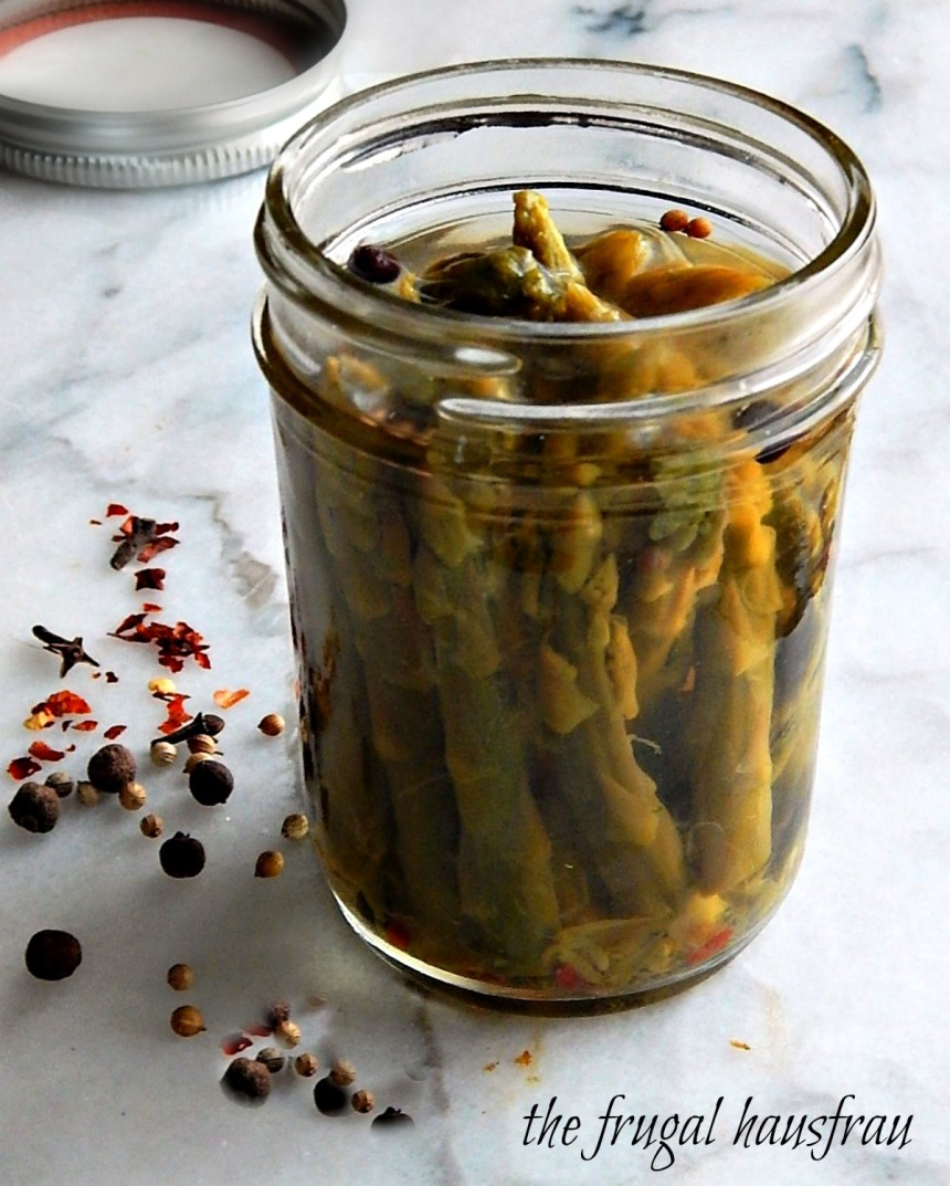 Easy Refrigerator Pickled Asparagus, easy recipe, refrigerator pickle