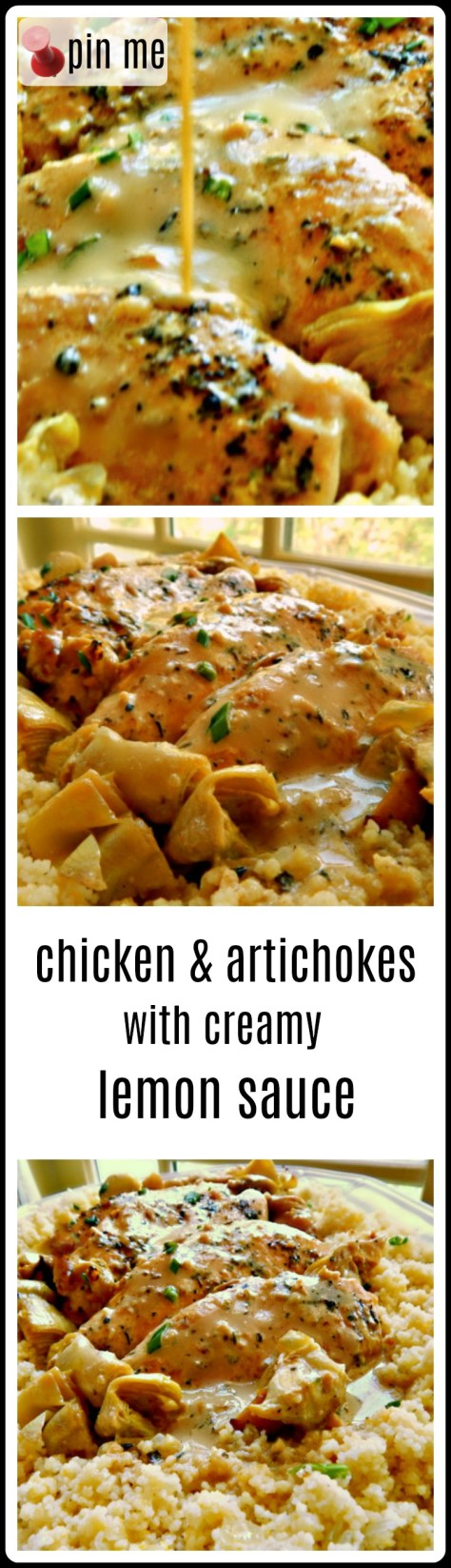 Chicken & Artichokes with a Creamy Lemon Sauce. So good! Perfect for a special dinner.