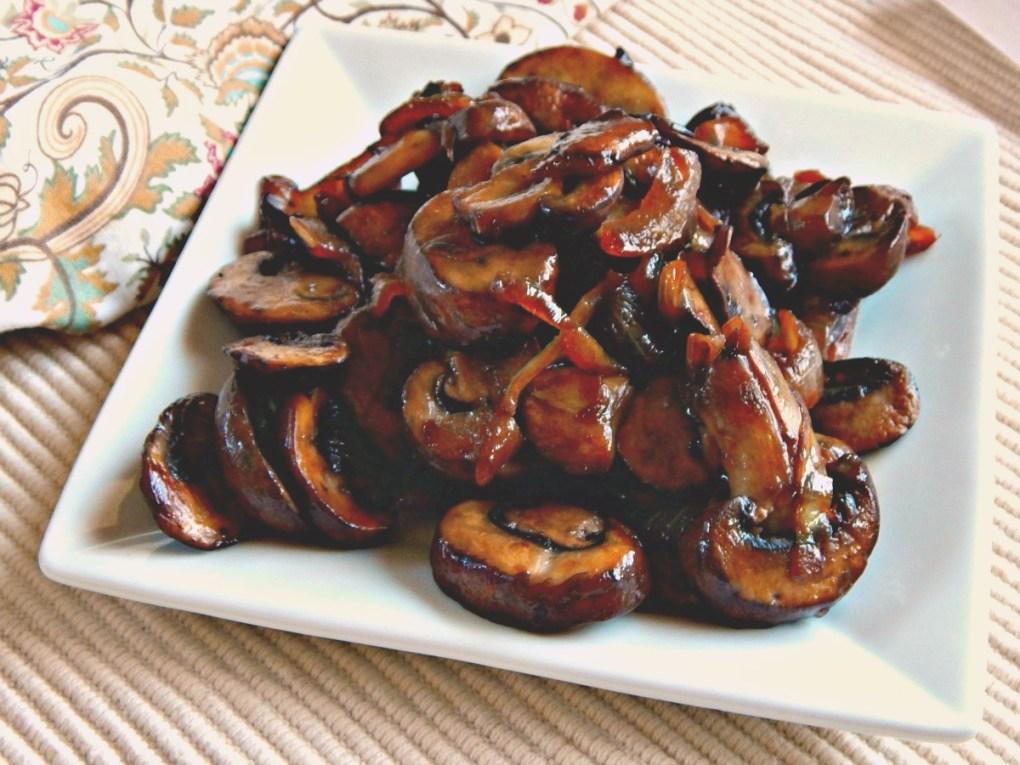 Pan Roasted Mushrooms & Onions