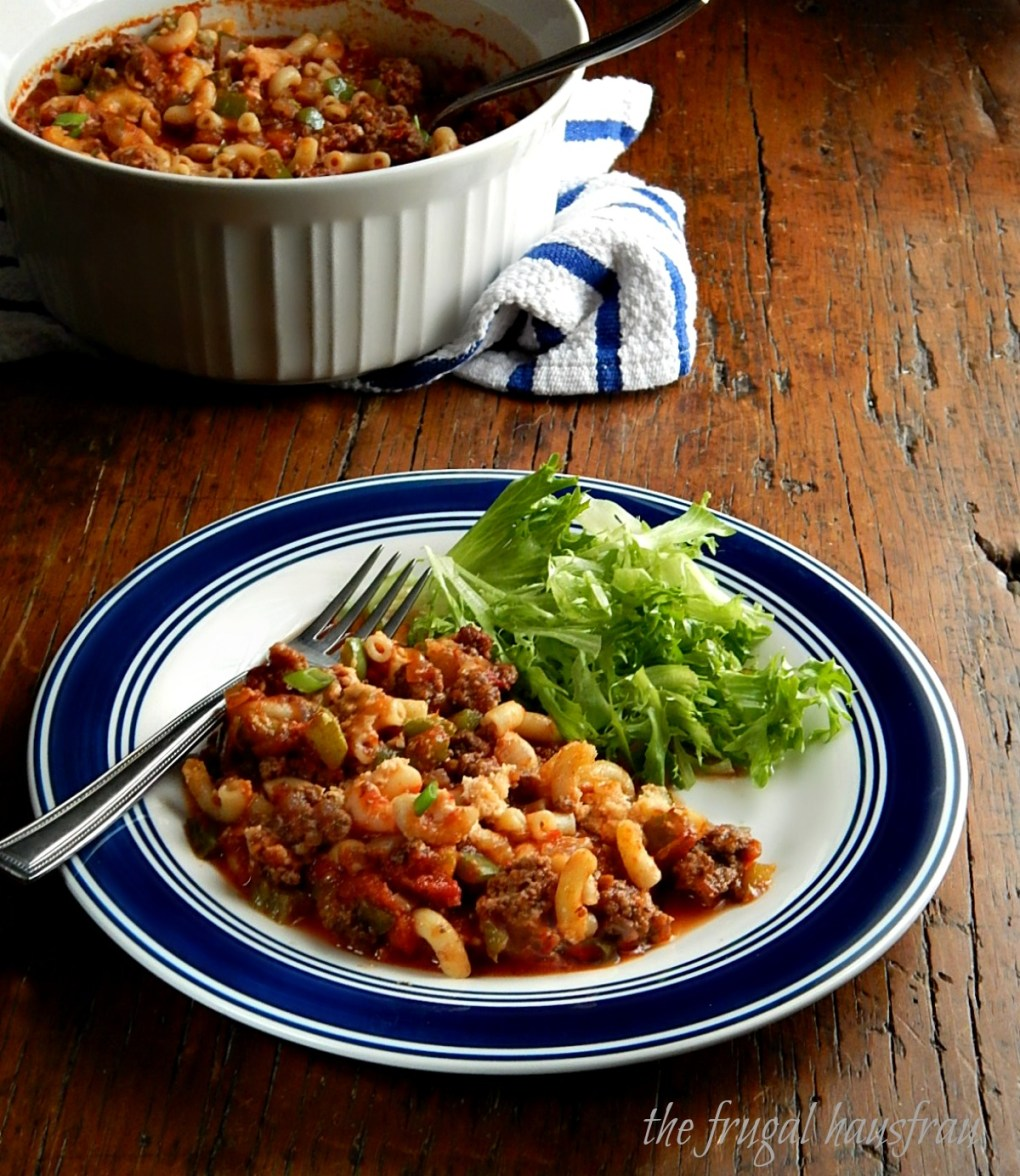 Classic American Goulash sometimes called Macaroni Beef or Chili Mac.