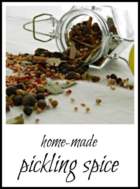 home-made pickling spice. A classic blend.