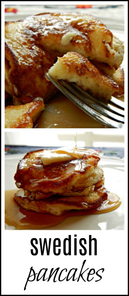 Swedish Pancakes - little silver dollar pancakes, crispy on the edges, light and fluffy inside - they're the best! Save them for the weekend or when you have a little time.
