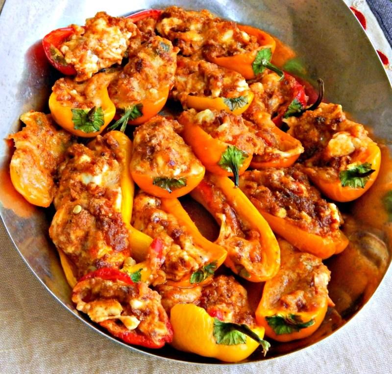 Pimento Cheese & Chorizo Stuffed mini Peppers