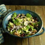 Dried Cranberry Walnut & Avocado Salad