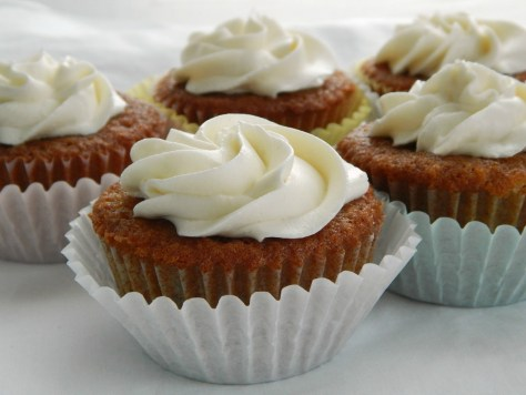 Grandma's Applesauce Cupcakes with Ermine Buttercream