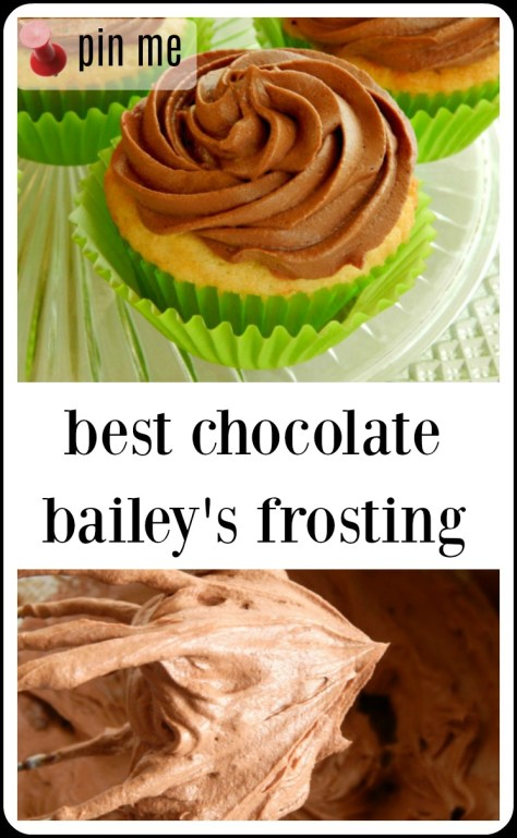 Chocolate Bailey's Buttercream has a full cup of Bailey's and it's fantastic!