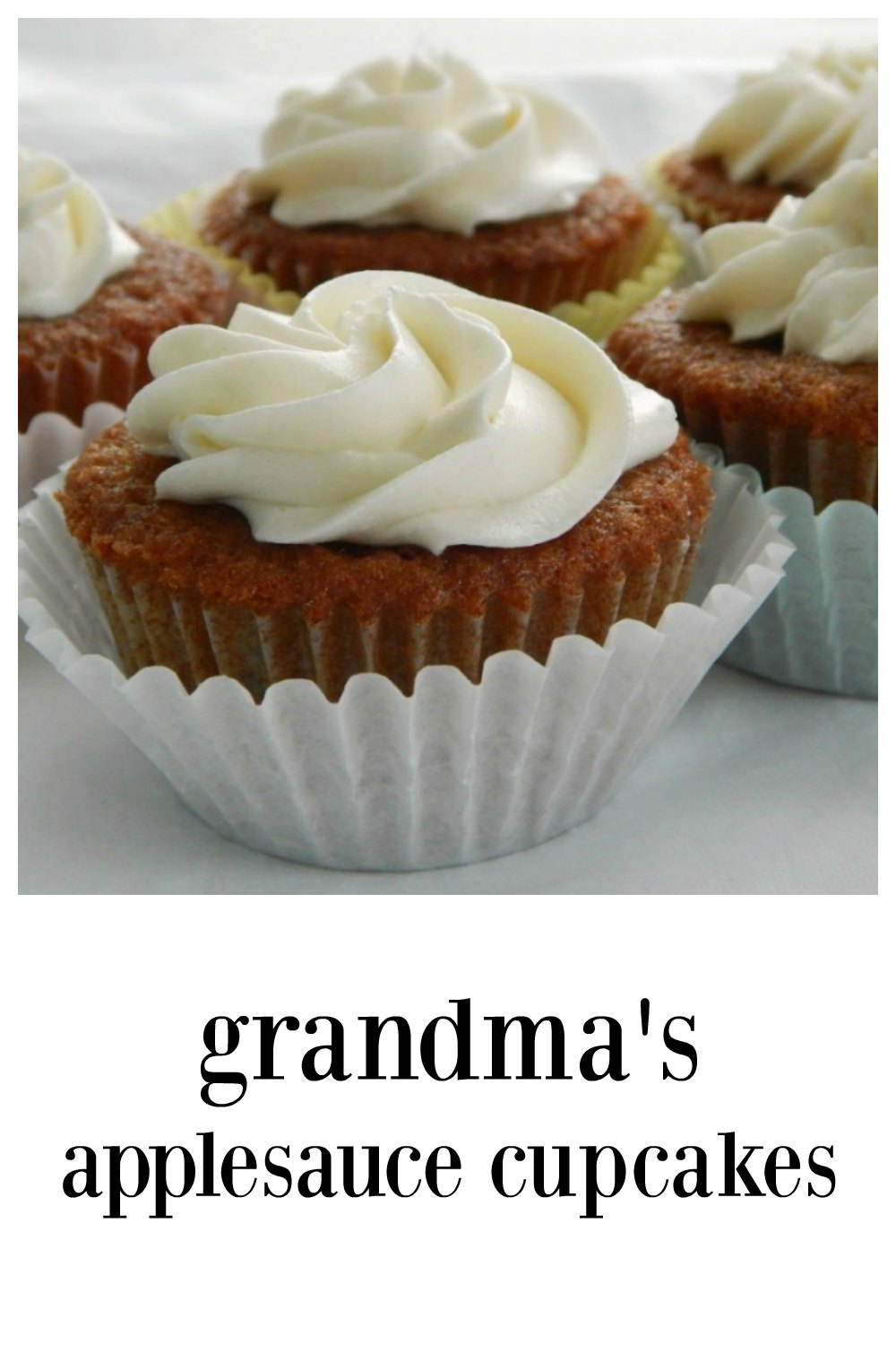 Grandmas Applesauce Cupcakes are an old recipe and still one of the best cupcakes you'll ever eat! Perfectly good with or without frosting. #ApplesauceCupcakes #GrandmasApplesauceCupcakes #OldFashionedApplesauceCupcakes