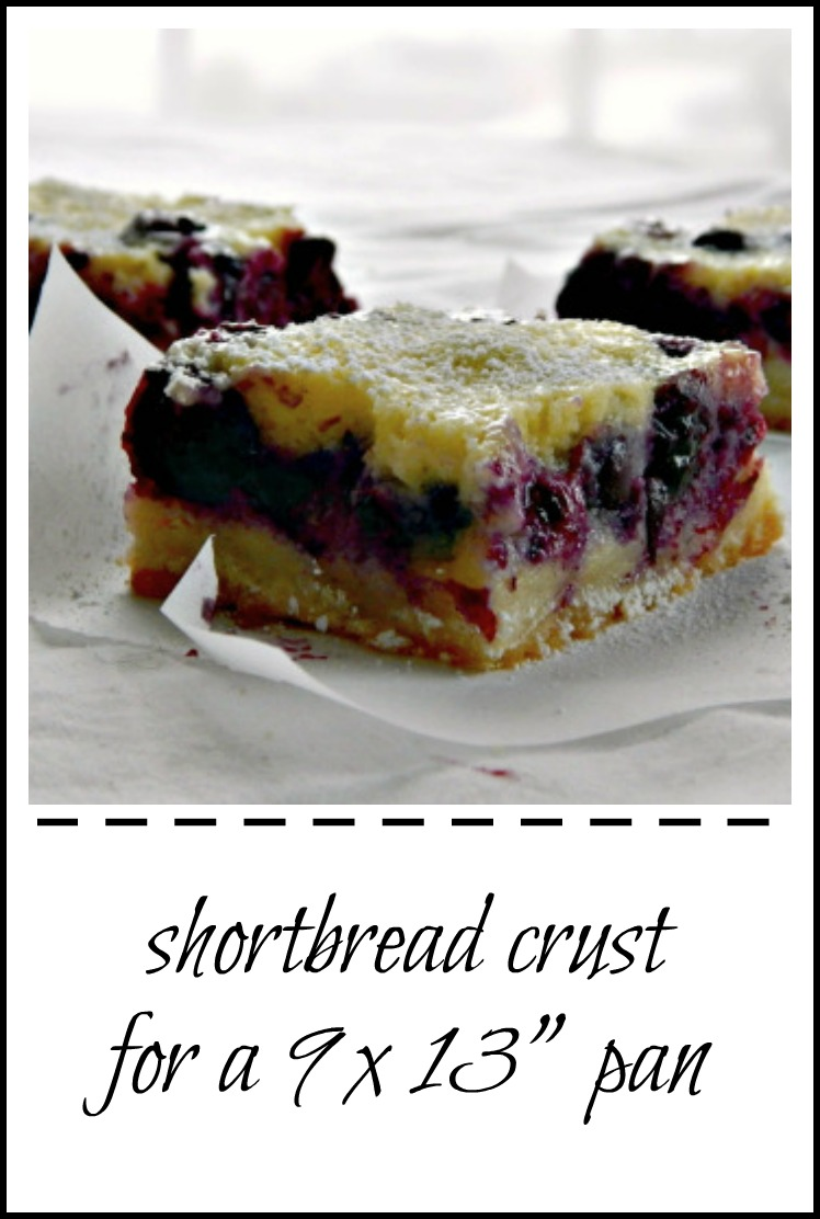 Best Shortbread Crust for ANY bars!