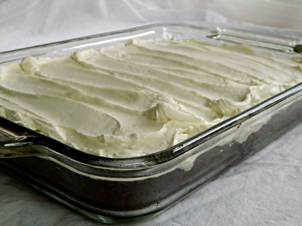 my Mom's chocolate cake from McCall's 1959 with Ermine Buttercream