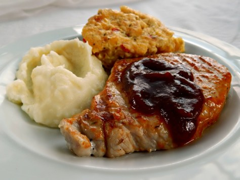 Sweet Bourbon Maple Brined Pork Chops