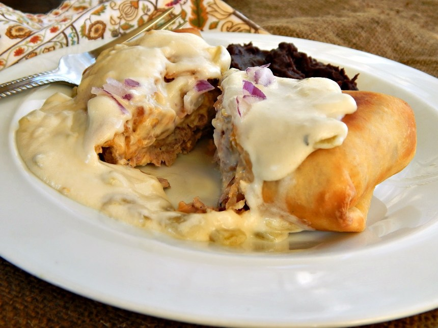 Steak Chimichangas with Green Chile Verde Sauce