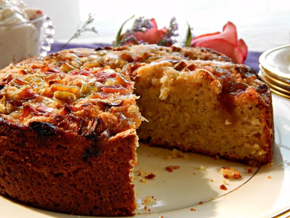 Rhubarb Pistachio Cake