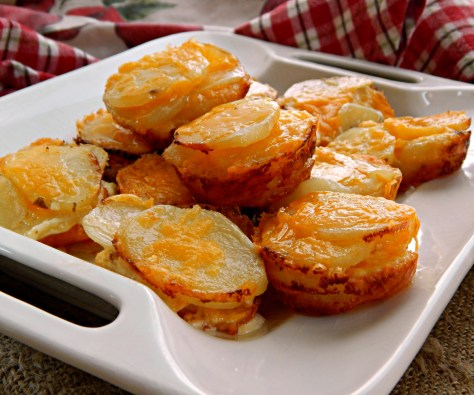 Cheesy Au Gratin Potato Stacks