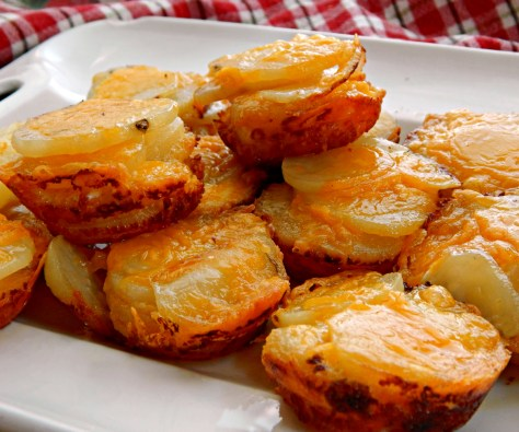 Cheesy Au Gratin Potato Stacks