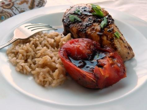 Balsamic Glazed Chicken & Tomatoes