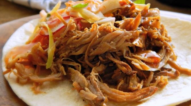Vaguely Vietnamese Slow Cooker Pork Tacos
