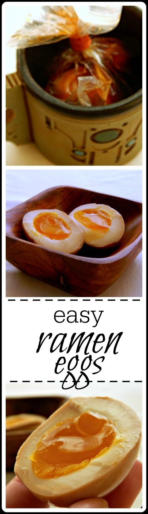 Easy Ramen Eggs: Soft boil, peel & soak. So good and super special.