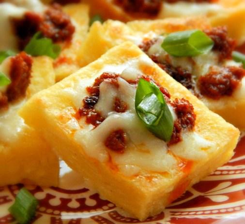 Chorizo Polenta Bites