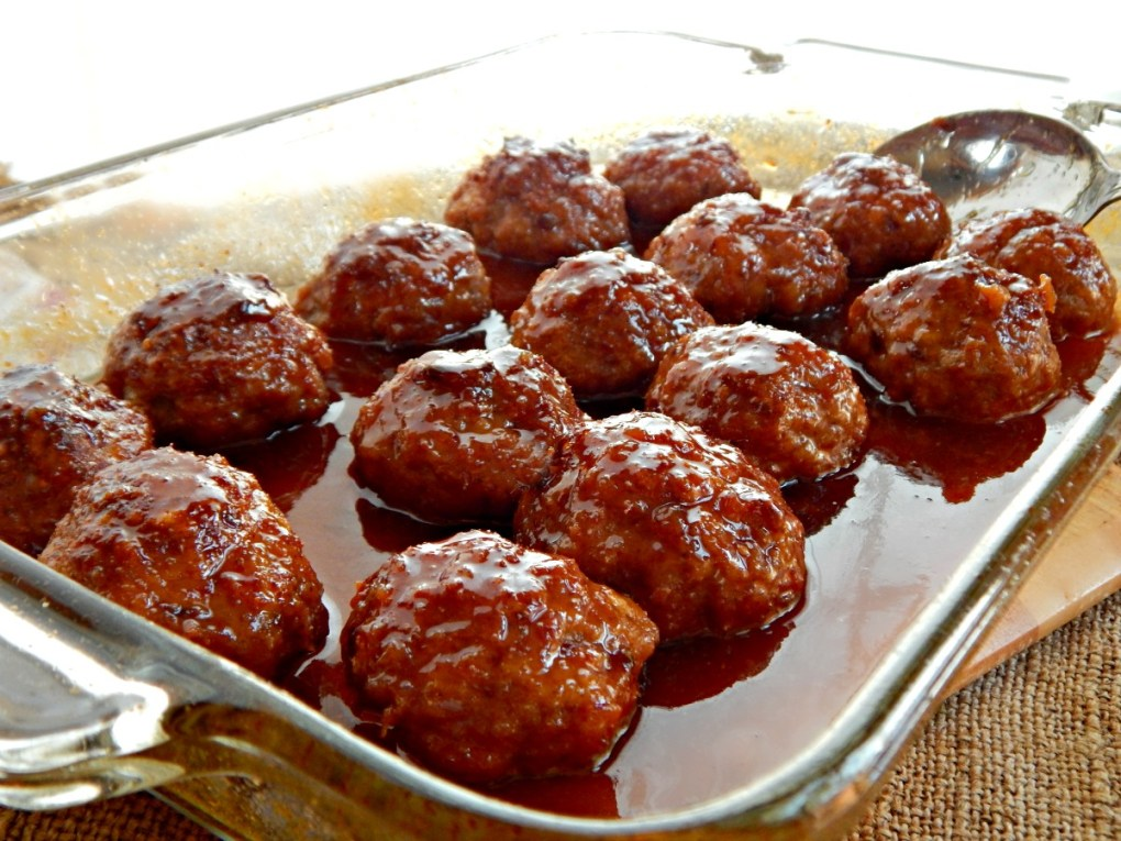 Iowa Ham Balls with Sweet Sour Glaze
