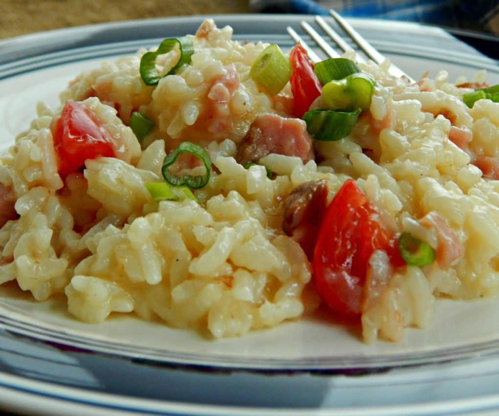 Ham & Parmesan Risotto Instant Pot or Stove Top Version.