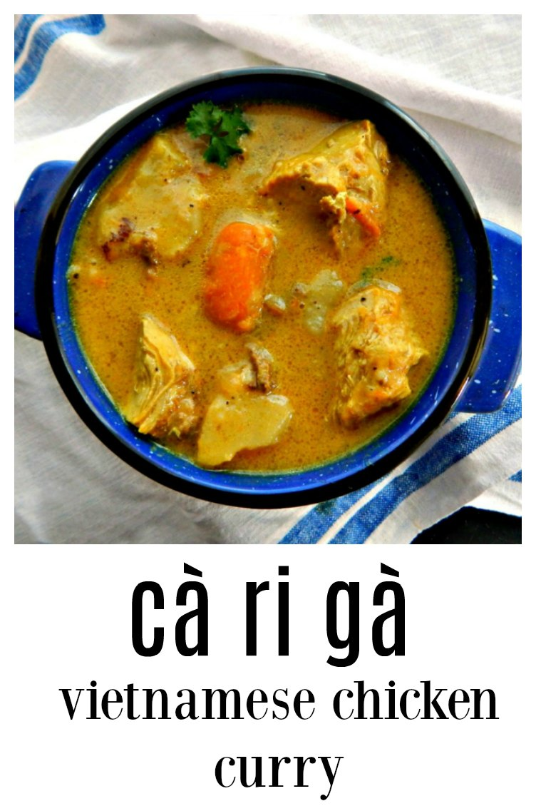 If you've never had Cà Ri Gà Vietnamese Chicken Curry, you're missing out! Seldom served in restaurants this homey meal will blow you away! Simple to make and so crave-worthy! Put down that bowl of Pho and make this instead! #CaRiGaVietnamesCurry