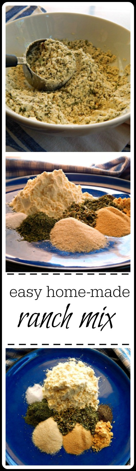 Easy Home-made Ranch Mix & Ranch Dressing