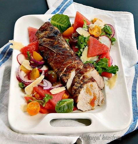 glazed pork tenderloin watermelon salad