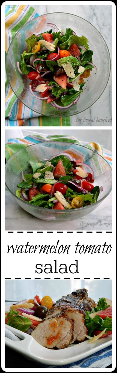 watermelon tomato salad: fresh, delicious & easy. If you love them on their own, you'll love them together!