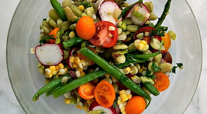 Summer Bean Salad Corn Green Beans Limas