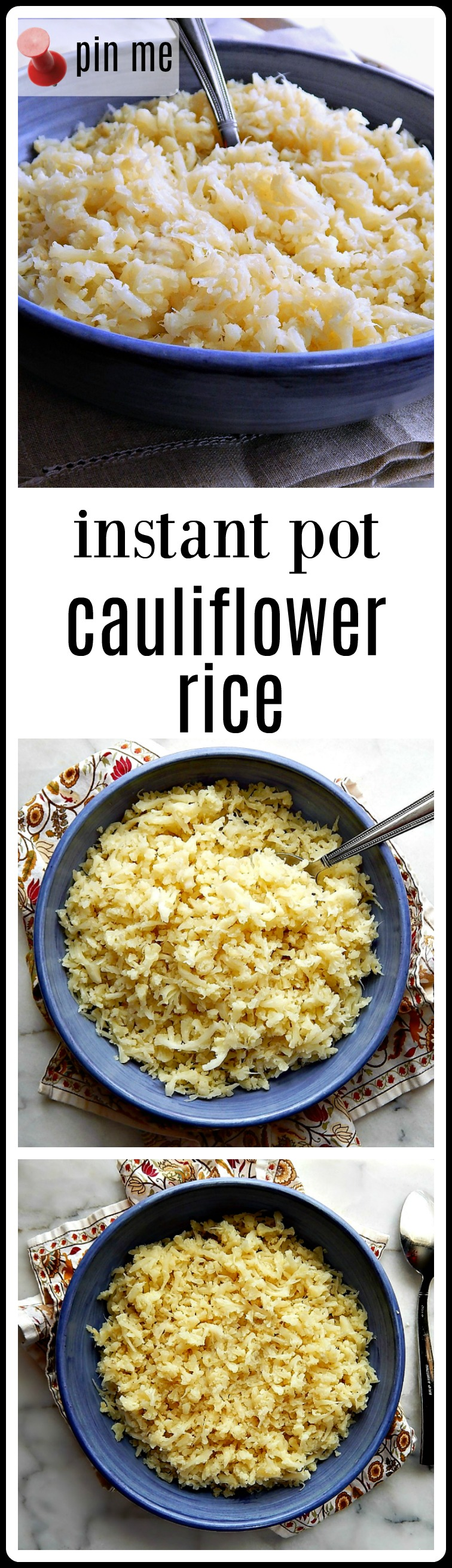 The Perfect & Easiest One Pot Instant Pot Mash in the pan Cauliflower Rice. No food processor needed! Minutes to make!