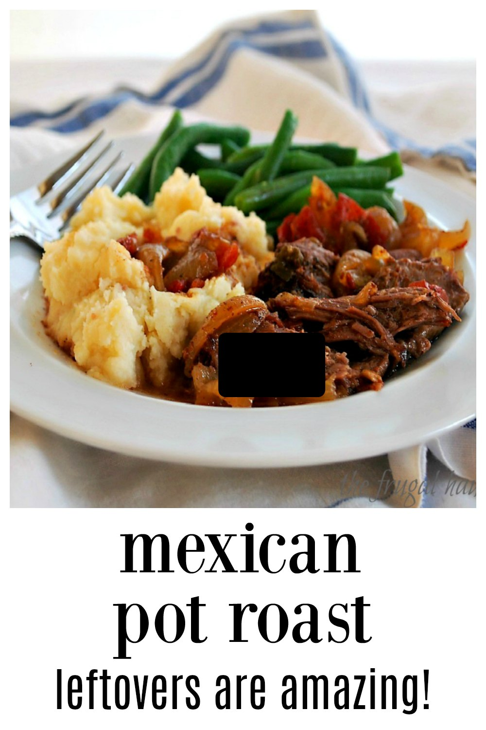 Fabulous Mexican Style Pot Roast has flavor for days but not too much heat! There are endless possibilities if there are leftovers! Super easy! #PotRoast #MexicanPotRoast #MexicanBeef