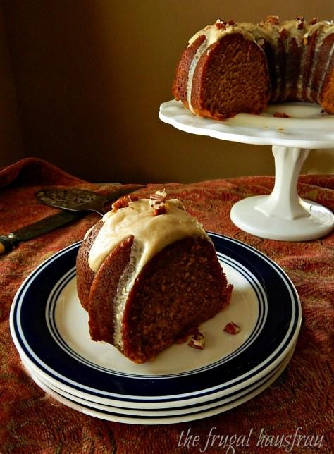 Pumpkin Bundt Cake With Maple Bourbon Brown-Butter Glaze